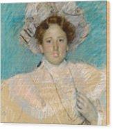 Adaline Havemeyer In A White Hat Wood Print