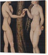 Adam And Eve In The Garden Of Eden Wood Print