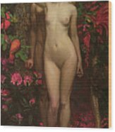 Adam And Eve With The Snake Wood Print