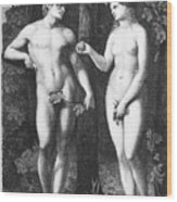 Adam & Eve Wood Print