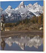 Adam Jewell At Schwabacher Landing Wood Print