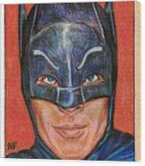 Adam West Is Batman Wood Print