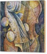 Adam's Cello Wood Print