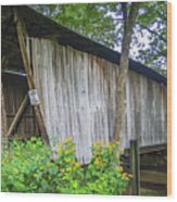 Adams/san Toy Covered Bridge  Wood Print
