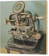 Addressograph Hand Graphotype Wood Print