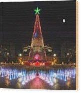 Adelaide Christmas Lights  Vg Wood Print