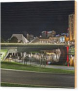 Adelaide Riverbank At Night II Wood Print