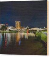 Adelaide Riverbank At Night Vi Wood Print