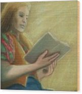 Adele Reading Wood Print