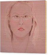 Adele Wood Print by Rebecca Tacosa Gray