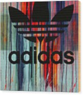 Adidas Plakative - Typografie Wood Print
