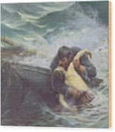 Adieu Wood Print by Alfred Guillou