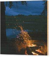 Adirondack Campfire Wood Print
