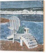Adirondack Chair Wood Print by Debbie DeWitt