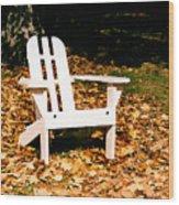 Adirondack Chair Wood Print