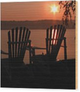 Adirondack Chairs-1 Wood Print