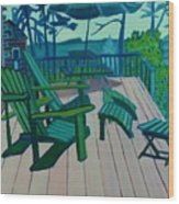 Adirondack Chairs Maine Wood Print