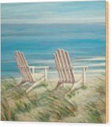 Adirondack Chairs Wood Print