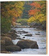 Adirondack Fall Stream 2 Wood Print
