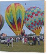 Adirondack Hot Air Balloons Wood Print