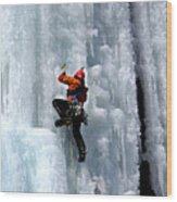 Adirondack Ice Climber  Wood Print by Brendan Reals