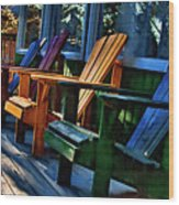 Adirondack Wood Print