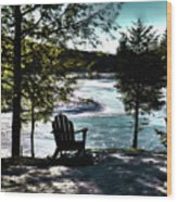 Adirondack Silhouette Wood Print