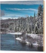 Adirondack Snowfall Wood Print