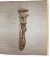 Adjustable Wrench Right Face Wood Print