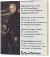 Admiral Evans Wood Print