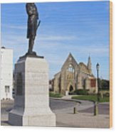 Admiral Lord Nelson And Royal Garrison Church Wood Print