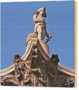 Admiral Nelson's Sculpture, London Wood Print