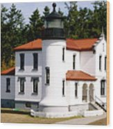 Admirality Head Lighthouse Wood Print