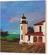Admiralty Head Lighthouse Dp15 Wood Print