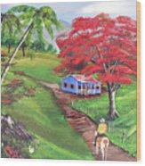 Admirando El Campo Wood Print