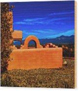 Adobe At Sunset Wood Print