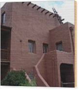 Adobe House At Red Rocks Colorado Wood Print
