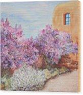 Adobe Lilacs Wood Print