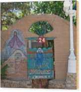 Adobe Wall Chimayo  Wood Print