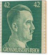 Adolf Hitler 42 Pfennig Stamp Classic Vintage Retro Wood Print
