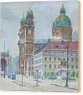 Adolf Hitler Painting Ordensplatzcu Wood Print