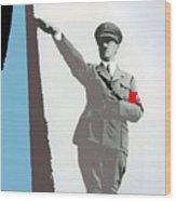 Adolf Hitler Saluting Full Figure Circa 1933-2016 Wood Print