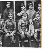 Adolf Hitler With  Fellow Soldiers From The List Regiment  Number Two Circa 1916 Wood Print
