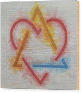 Adoption Symbol Wood Print