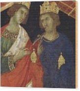 Adoration Of The Magi Fragment 1311 Wood Print