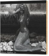Adorning A Mermaid 2 Wood Print