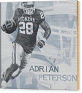 Adrian Peterson Wood Print