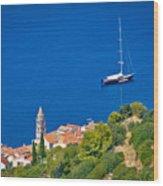 Adriatic Town Of Vis Sailing Destination Waterfront Wood Print
