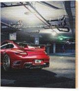 Adv1 Red Porsche 2 Wood Print