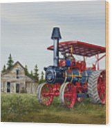 Advance Rumely Steam Traction Engine Wood Print